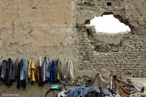 afghan students hang coats walls kabul 300x200