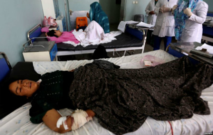 woman injured in airstrike herat afghanistan aug28 17