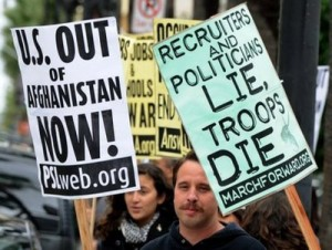 afghan war protest