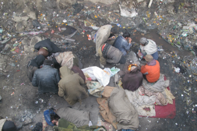 drug addicts kabul hungry cold