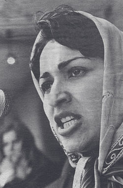 250px Meena founder of RAWA speaking in 1982