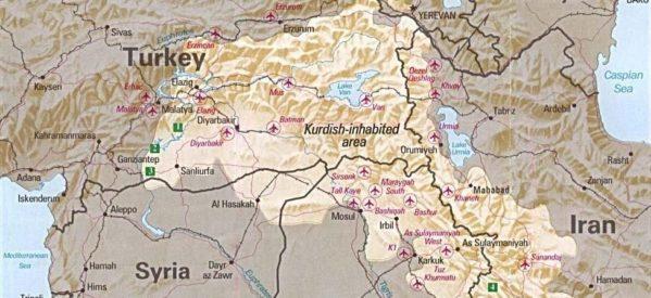 Cartina Kurdistan.L Artiglio Turco Sui Curdi